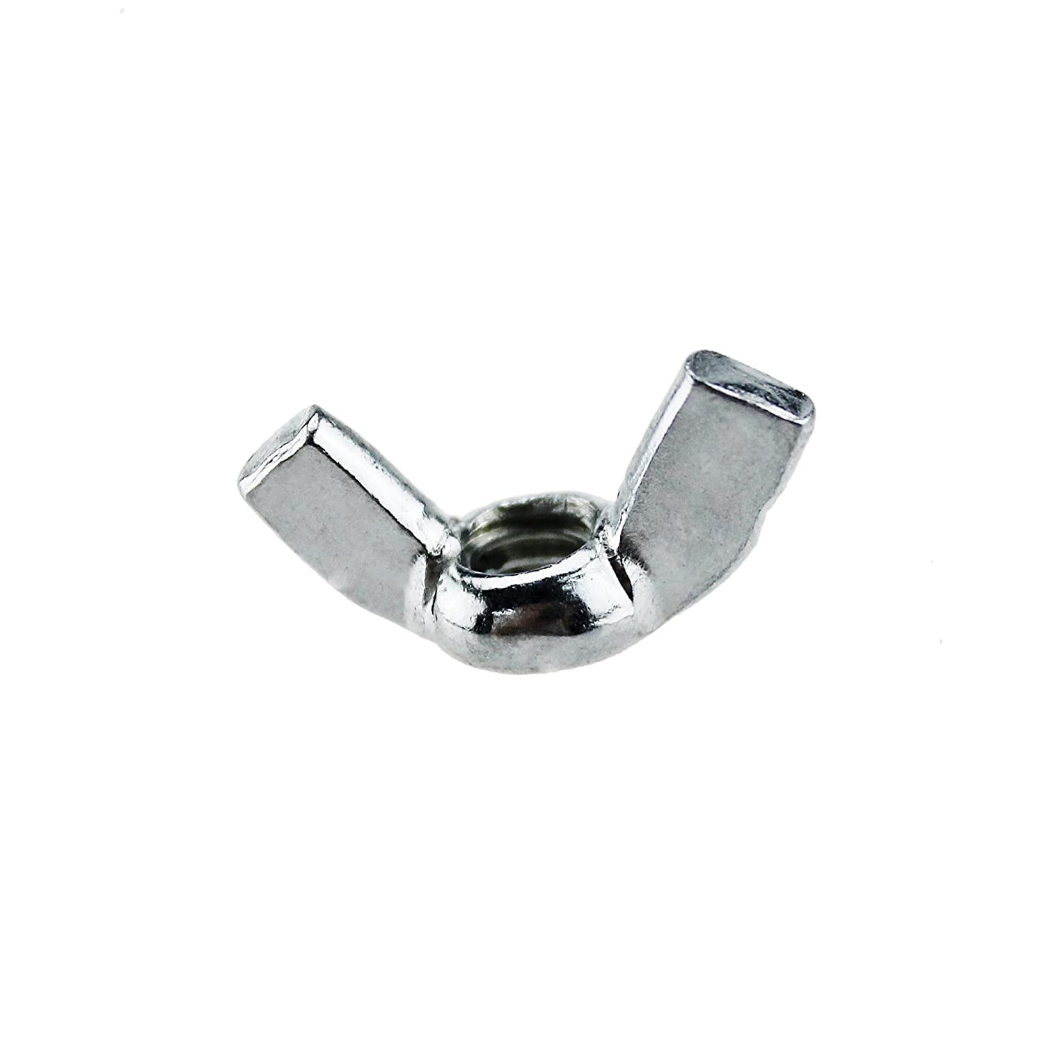 Iztoss Industrial Carbon Steel Inches Twist Tighten Eye Wing Nut Threaded Thumb Butterfly Claw Nuts 1//4-20 50PCS