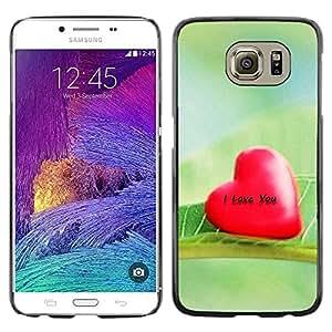 TopCaseStore / la caja del caucho duro de la cubierta de protección de la piel - Love I Love You - Samsung Galaxy S6 SM-G920