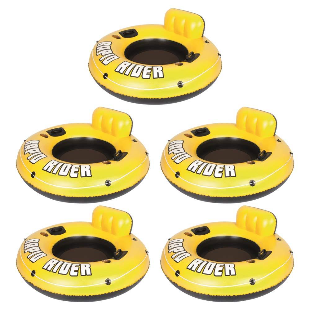 Bestway Rapid Rider 53'' Inflatable Raft Tube with Handles/Cup Holders (5 Pack) by Bestway