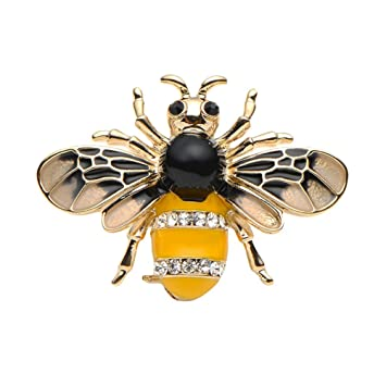 Flybloom Elegant Wasp Brooch Jewelry Pins For Women Gifts Garment  Accessories 62bc174e87c4