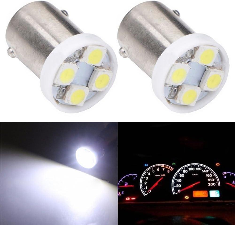 TABEN 10pcs BA9S Super Bright 8000K Blue 1210-4SMD LED Lights Bulbs BA9 53 57 1895 64111 Side Door Courtesy Lights Map Dome Lights