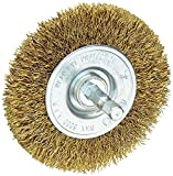 brush for bosch drill - Vermont American 16791 3-Inch Course Brass Wire Wheel Brush with 1/4-Inch Hex Shank for Drill