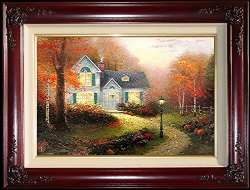 "Blessings of Autumn by Thomas Kinkade 18"" x 27"" Double Signed Standard Numbered"