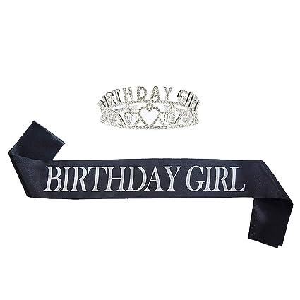Amazon.com: Juego de 2 pañuelos de cumpleaños para niña ...
