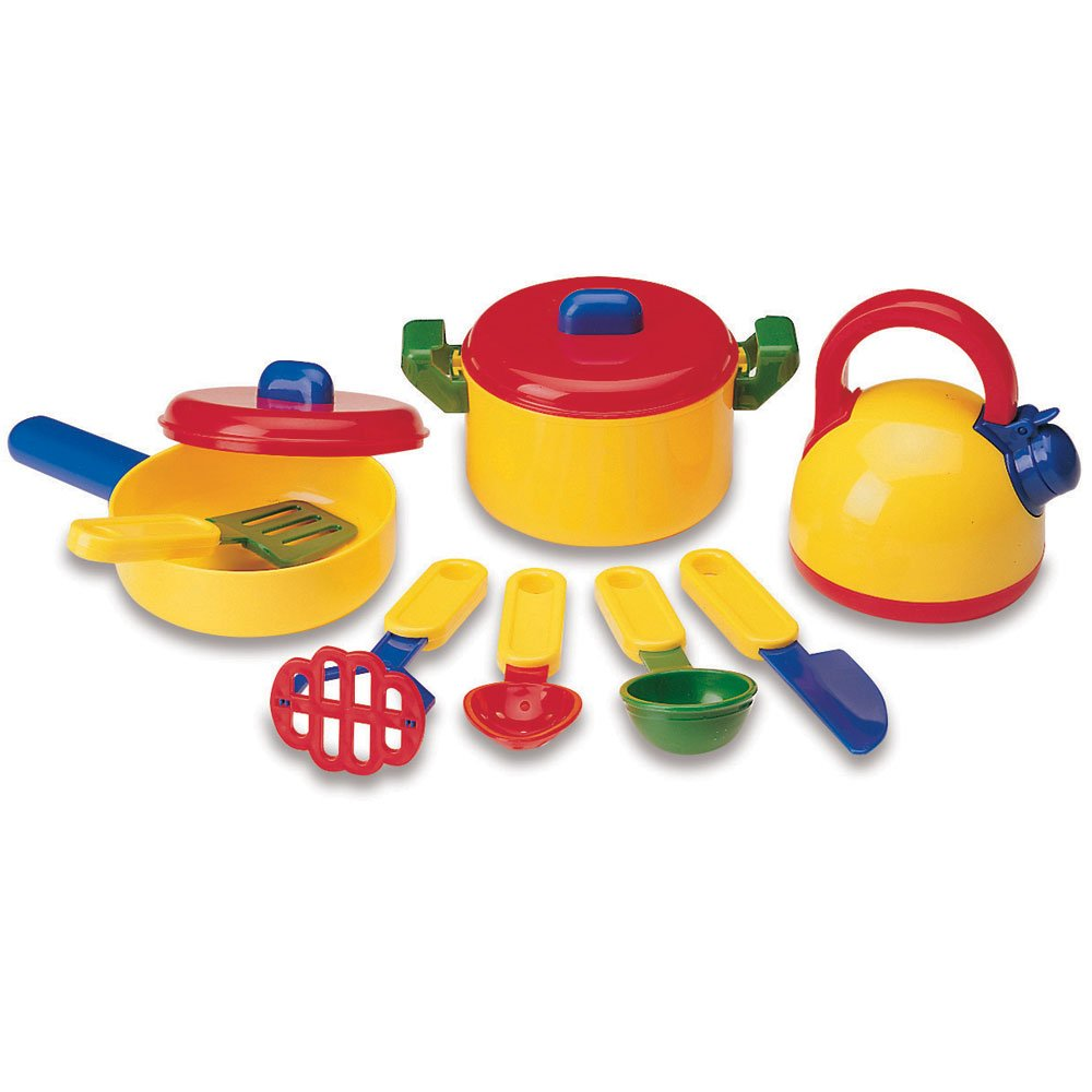 Learning Resources Pretend & Play Cooking Set, Play Food, Imaginative Play, 10 Pieces, Ages 3+
