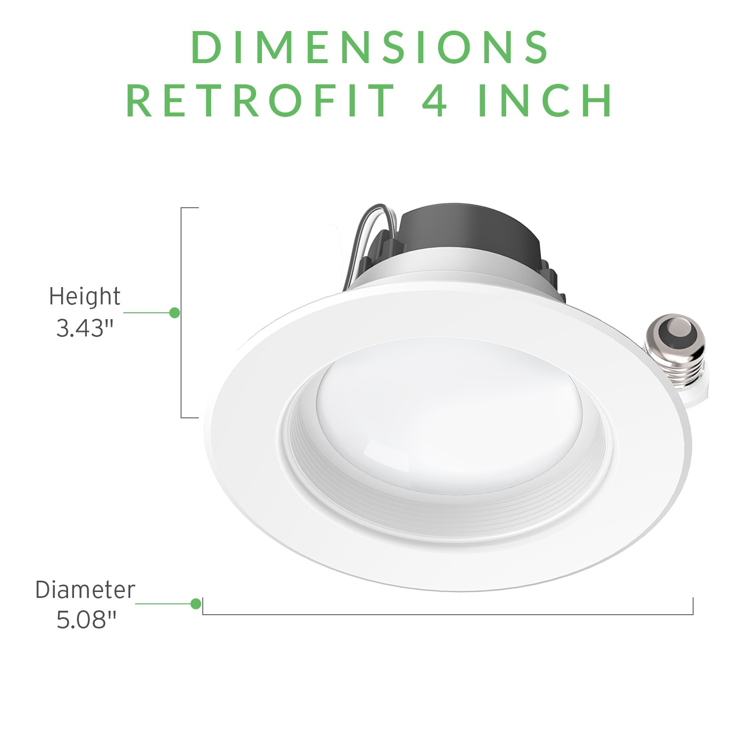 Sunco Lighting 6 Pack 4 Inch Baffle Recessed Retrofit Kit Dimmable LED Light, 11W (40W Replacement), 3000K Kelvin Warm White, Quick/Easy Can Install, 660 Lumen, Wet Rated by Sunco Lighting (Image #10)
