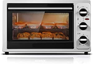 SFLRW Heat Countertop Toaster Oven, Stainless Steel, Extra-Large Capacity, Black, Dark Gray