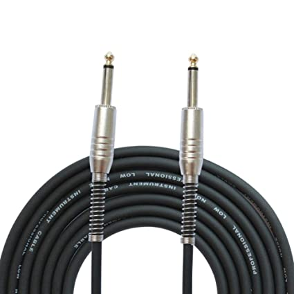 LayOPO Cable AMP para Guitarra, 6,5 mm, 3 m, Cable TRS