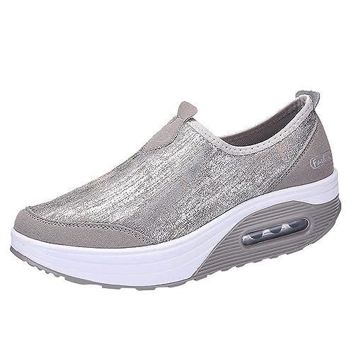 Logobeing Zapatillas Deportivas Mujer Zapatos de Mujer Zapatillas de Deporte Mujer con Suela Gruesa Zapatos Comodos Mujer: Amazon.es: Zapatos y complementos