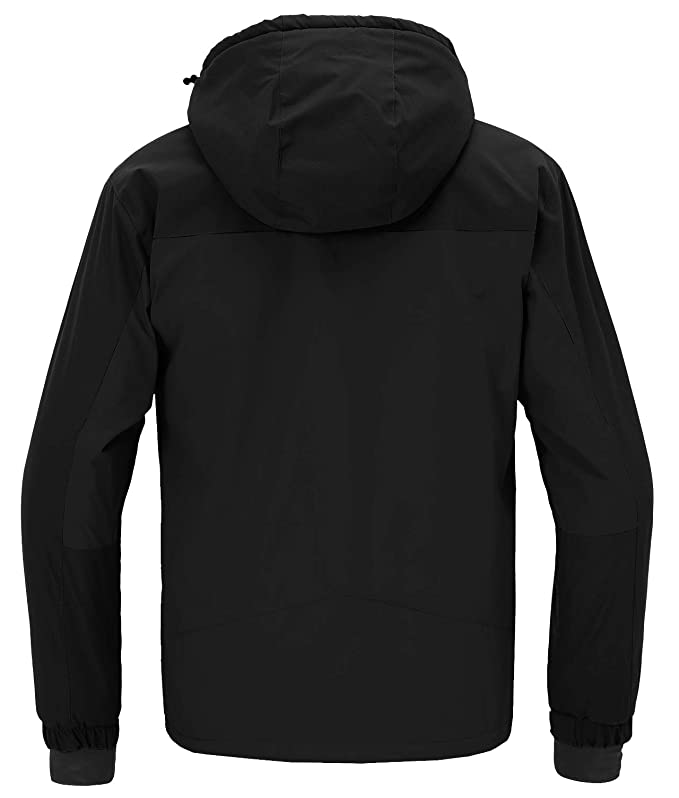 Wantdo Mens Windproof Ski Fleece Jacket Waterproof Parka Insulated Winter Coat