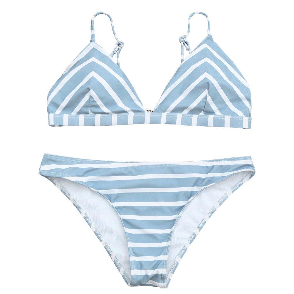 Womens Swimsuits 2 Pcs Brazilian Top Thong Bikini Set High Waisted Bathing Suits for Women