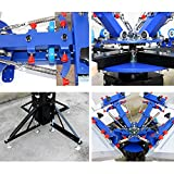 4 Color 4 Station Screen Printing Machine Screen