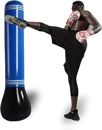 SUNSHINEMALL Inflatable Punching Tower Bag Boxing Column Tumbler Sandbags Fitness/Training/Fun Activity, Boxing Target Bag for Children Teens Adult