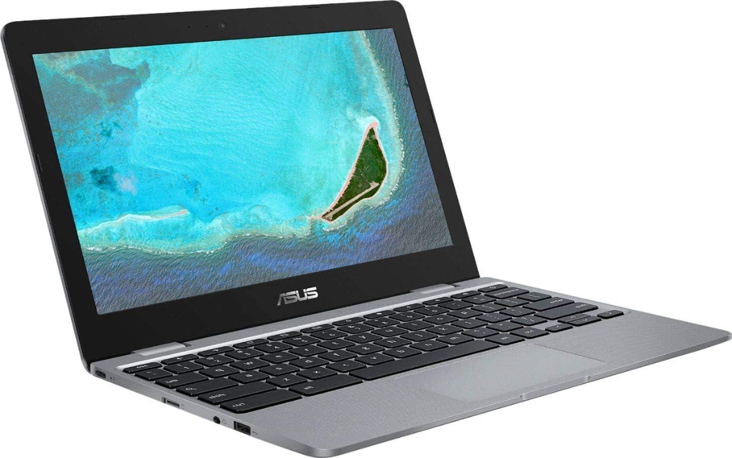2020 Newest Asus Chromebook 11.6 Inch Online Class Reday Laptop, Intel Celeron N3350 up to 2.4 GHz, 4GB RAM, 16GB eMMC, WiFi, Bluetooth, Webcam, Chrome OS + AllyFlex Mousepad