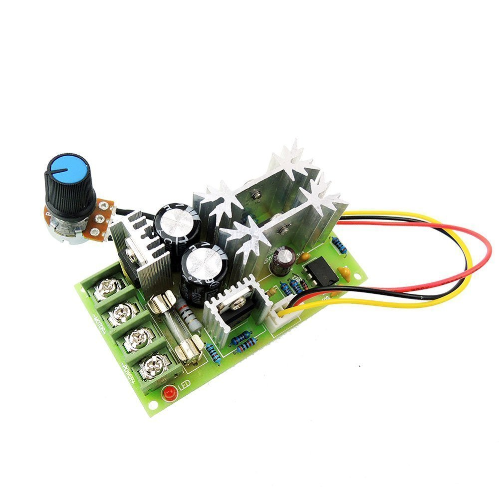 uniquegoods Universal 12V 24V 36V 48VDC 20A 500W (Max) DC Motor Speed Controller PWM Adjustable Speed Driver Module without Switch L0577 Mei motor electronic co.ltd