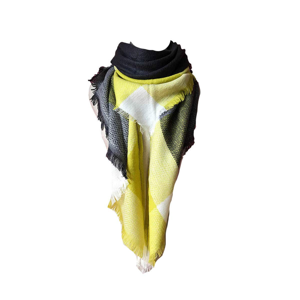 500138748a8eeb heekpek Moda Nappe Morbido Donne Sciarpa Avvolgere Scialle Scarf Wrap Caldo  Modello Lattice Scialle Stole con