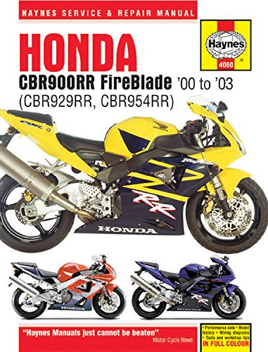 00-01 HONDA CBR929RR: Haynes Repair Manual ()