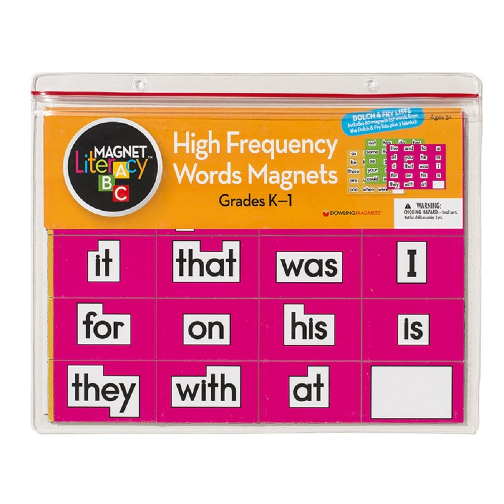 Amazon.com: High Frequency Word Magnets Grades K-1: Refrigerator ...