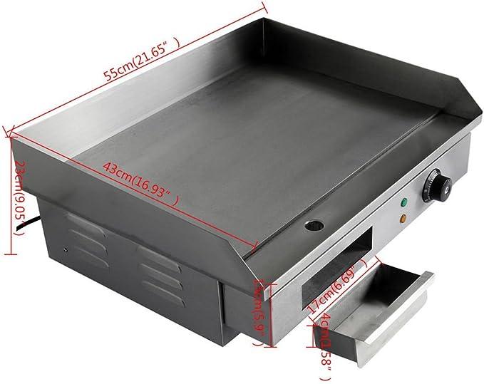 Eléctrico hornillo placa calefactora placa grillé rejilla 3 ...