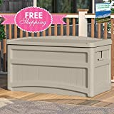 Outdoor Storage Containers For Deck With Lids Multifunctional Patio Storage Trunk Modern Box Taupe Shed Garden Seat Furniture Yard Chest Poolside Cushion Storing Bistro Backyard And eBook By NAKSHOP