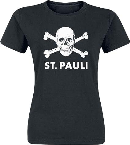 FC St. Pauli Skull Camiseta Mujer Negro XL: Amazon.es: Deportes y ...