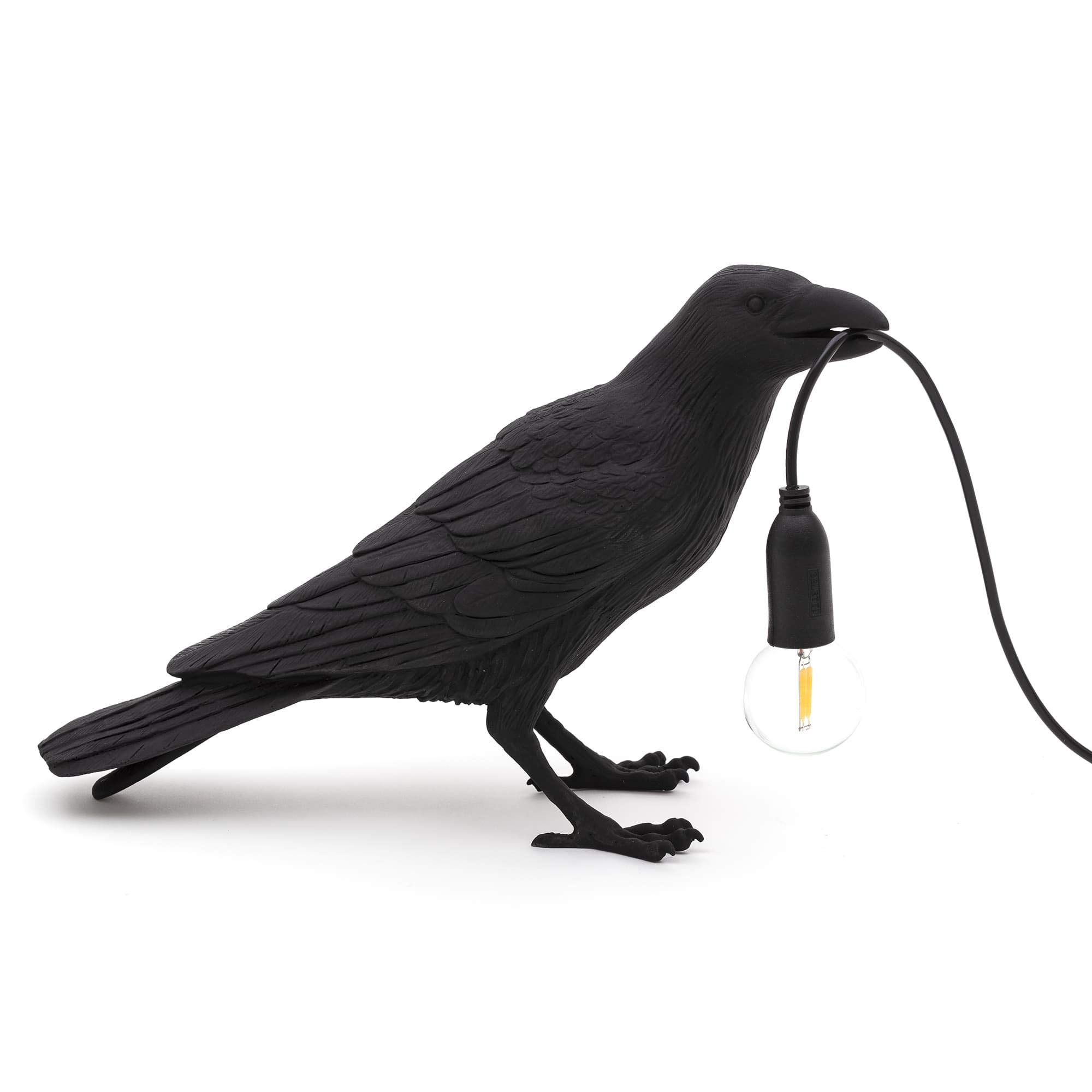 Seletti Bird Lamp Waiting, Black