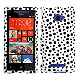 MYBAT HTCWIN8XHPCIM1034NP Slim and Stylish Protective Case for HTC Windows Phone 8X - 1 Pack - Retail Packaging - Black Mixed Polka Dots