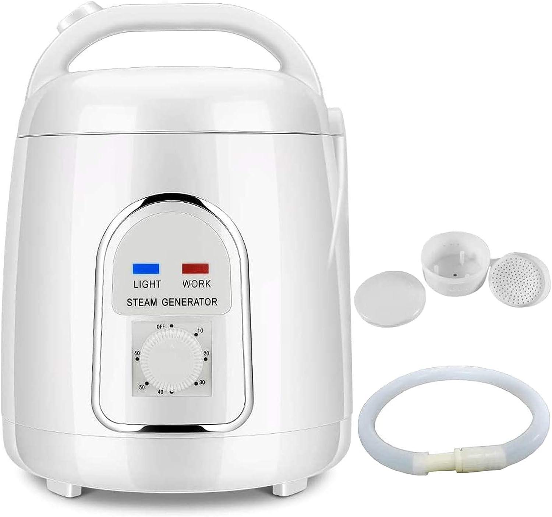 H HUKOER 1.5-1.8 Liters Sauna Steamer Portable Pot, 110V Fumigation Machine Liters Suit Home SPA Shower Salon for Body Detox Weight Loss (US Plug)