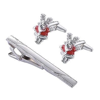 KY Jewelry - Gemelos de Navidad con Clip para Corbata, Caja de ...