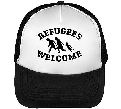 Refugees Welcome Running Gorras Hombre Snapback Beisbol Negro ...