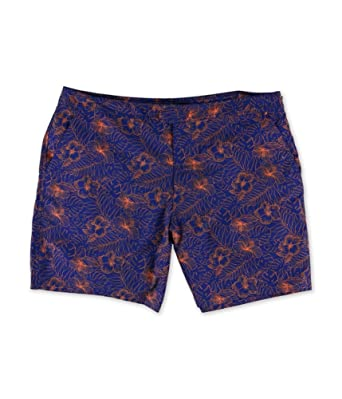 ee4f70b32c Marc Anthony Mens Slim-Fit Mini Print Swim Bottom Trunks | Amazon.com