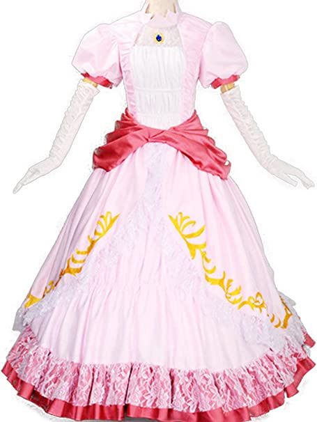 Wraith of East Princess Peach Costume Women Adult Cosplay Pink Dress Amazon.ca Clothing u0026 Accessories  sc 1 st  Amazon.ca & Wraith of East Princess Peach Costume Women Adult Cosplay Pink Dress ...