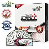 3D Effects Teeth Whitening Strips Charcoal Flavor, Flycat Daily Medium Dental Whitestrips Kit 14 Treatments At Home Oral Care, 28 Counts Dry Strips with Non-Peroxide