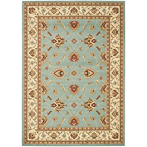 Safavieh Lyndhurst Collection LNH553-6512 Traditional Floral Blue and Ivory Area Rug (8'9