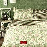 FADFAY Home Textile,Elegant Fresh Cherry Blossom Duvet Set,Brand 100% Cotton Fairy Girls Beding Set,Designer Gingham Print Bedroom Set