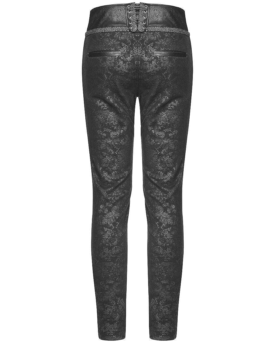 1efc538234 Punk Rave Mens Gothic Pants Jeans Black Damask Steampunk VTG Victorian  Trousers: Amazon.co.uk: Clothing