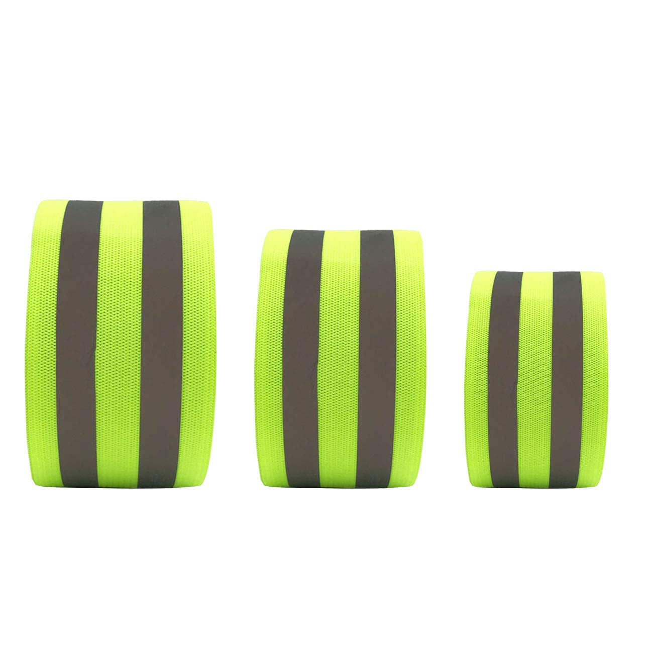 Arm for Wrist Leg.High Visibility Safety Reflective Running Gear for Men and Women for Night Running Cycling Walking Bicycle Reflective Band Ankle 6 Bands//3 Pairs High Visibility Safety