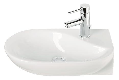 Handwaschbecken droPino, 50 cm, Weiß, Waschtisch, Gäste-WC
