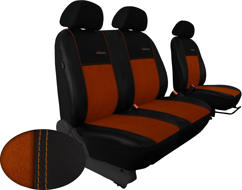 POKTER-ALC F/ür Vito II W639 1+2 Sitzbez/üge Exklusive in Kunstleder mit ALKANTRA-Sitzfl/äche