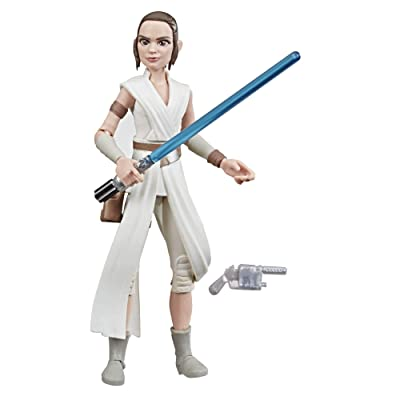 "Star Wars Galaxy of Adventures The Rise of Skywalker Rey 5""-Scale Action Figure Toy with Fun Lightsaber Action Move: Toys & Games"