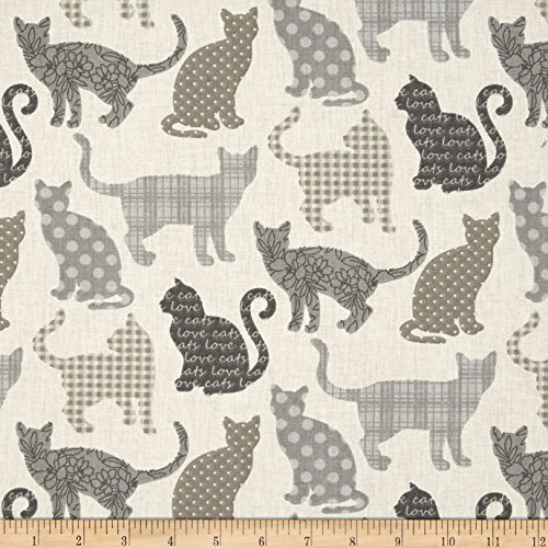 Stof France Chipie Naturel Fabric By The (Cat Fabric)