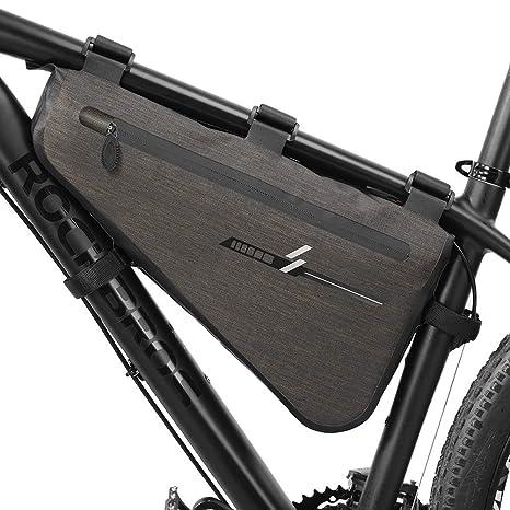 Faviye - Bolsa para Cuadro de Bicicleta, Impermeable, Bolsa de Tubo Triangular, Bolsa de Bicicleta portátil para el Viaje de Ciclismo, tamaño 30 * 19 ...