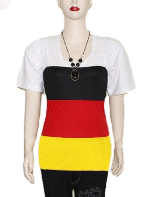 Rock//Damentop multifunktional f/ür Damen Deutschland Fu/ßball WM 2014