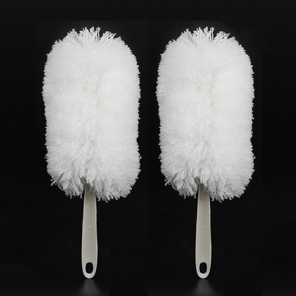 NEUAIR 12'' Inch Static Feather Cleaning Duster, Car Duster, Keyboard Computer Devices Telephone Kitchen Dormitiry Cleaning Brush,2 Pack