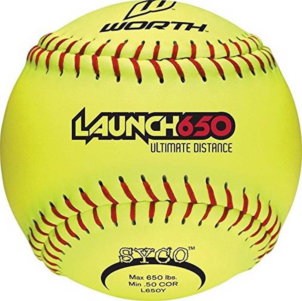 Worth Launch 650 Ultimate Distance - Pelotas de Softball (12 ...