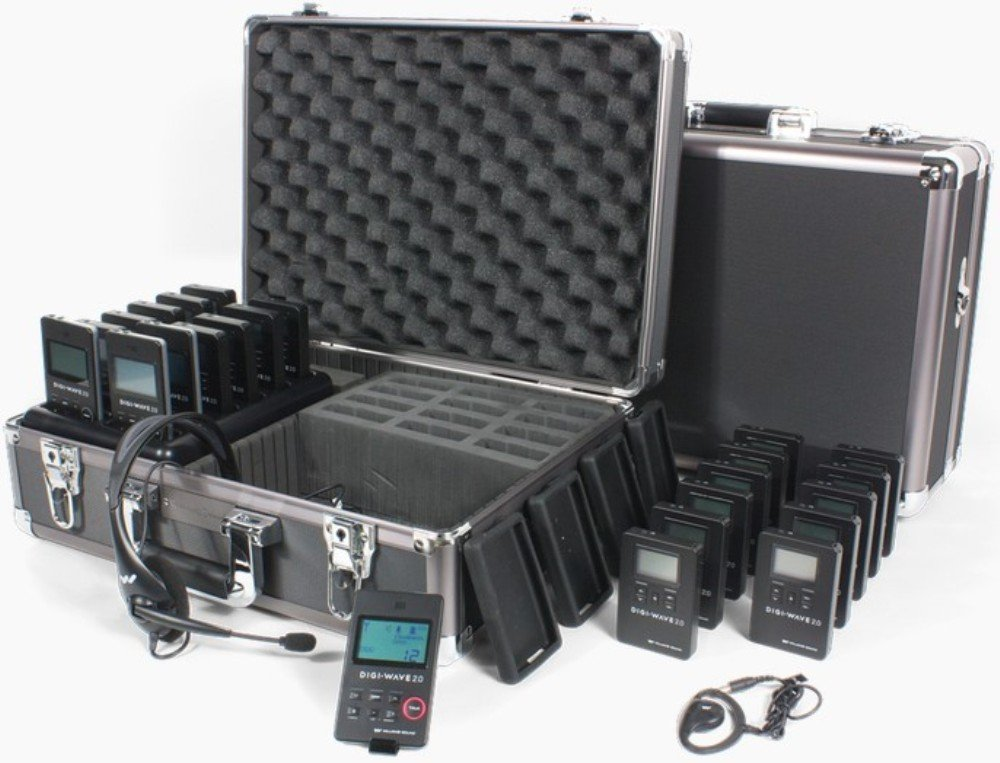 Williams Sound DWS TTGS 20 Digi-Wave Team Tour Guide System 20, Four independent groups can be operating simultaneously within a range of up to 100 feet outdoors/200 feet indoors