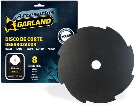 Garland 7100230148 - Disco 8 Dientes 230 mm. Ø para Desbrozadora ...