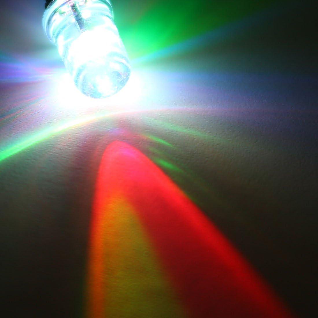 Lampeggiante Arancione Luce Rotondo Cima Trasparente Lente Luce Emittente Diodi con Bordo sourcing map 15pz DC 6V 3mm Pre Cablato LED