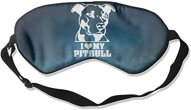 Platinum Love Pitbull Natural Silk Sleep Mask & Blindfold ...