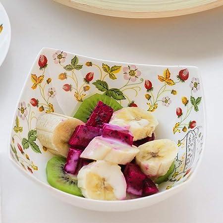 Tazón de sopa Platos Platos para servir Postre Platos Tazón de cerámica occidental Cuenco de ensalada